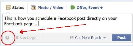Escrevendo um post no Facebook