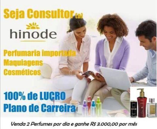 Revenda Produtos Cosméticos e Perfumes Hinode 100% de Lucro