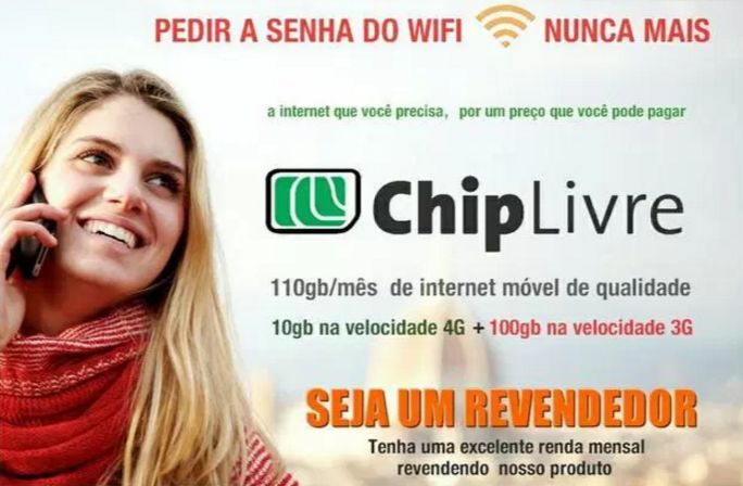 Revenda Chip Livre - Chip de Dados para Internet Móvel