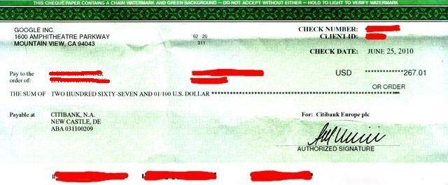 Cheque Pagamento em Dolar