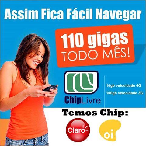 Chip Livre Internet Móvel 4G + Internet Ilimitada 3G