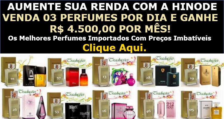Revenda de Perfumes Hinode com Lucro de 100%