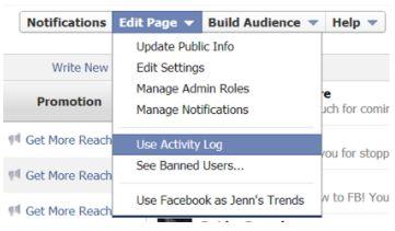 Verificar Registros de Atividades do Facebook